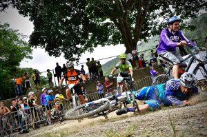 harde val met de fiets